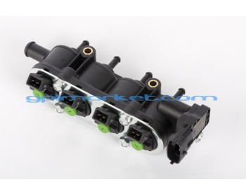 RAIL LACEY GREEN 4 cyl. 25-22 with PRESSURE SENSOR